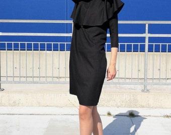 NEW Cocktail Dress / Long Sleeve Dress / Sexy Dress / LBD / Little Black Dress by FabraModaStudio / D199