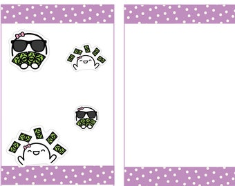 Fingie Pay Day Stickers, Planner Stickers -010