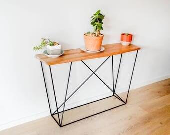 Custom Handmade Geometric Console Table