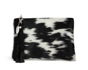 Black and White Cowhide Clutch | Exact Bag You Will Receive