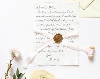 Letter to groom | Etsy