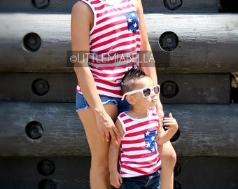 1 CHILD ONLY, 4th of July, matching shirts, matching outfits, mommy and me, mommy and son, July 4th,mother daughter, mommy and son outfits