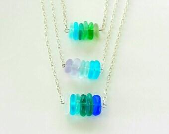 Sea Glass Necklace Beach Glass Necklace Genuien Sea Glass Necklace Boho Necklace Mermaid Necklace Beach Wedding Necklace