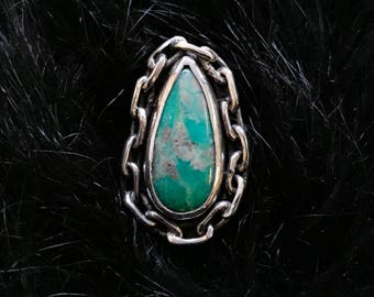 Turquoise Tear Ring