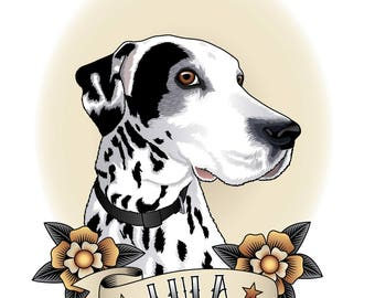 Custom pet portrait. Digital Illustration. Personalized Illustration.