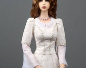 """READY to SHIP! Gorgeous light chestnut angora goat wig with ombre effect for SD, supergem or other doll with 8-9"""" head"""