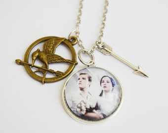 The Hunger Games necklace - Katniss Everdeen jewelry - Peeta Mellark jewelry