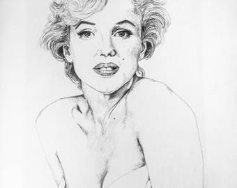 Celebrity portrait - Marilyn Monroe example