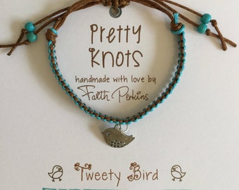 Boho Friendship Bracelet 'Tweety Bird'