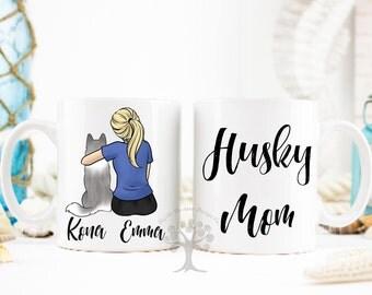 Personalized Husky Mug, Husky Mug, Dog Lover Gift, Gift For Dog Mom, Gift For Husky Mom, Husky Gifts, Gift For Husky Lover, Husky Mug