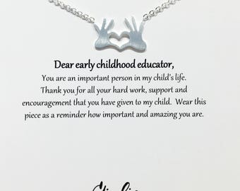 Daycare Teacher gifts Daycare provider gifts Early childhood educators Gift Teacher necklace, Provider gift Daycare teacher gif