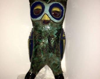 OWL / CHOUETTE - 1960 - sculpture en terre cuite - France