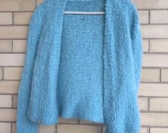 Softest knit blue cardigan