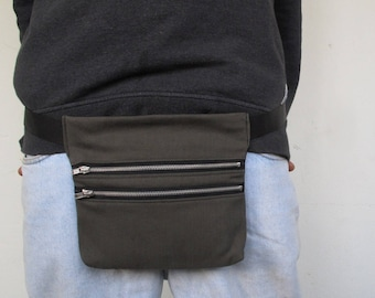 Pouch in olive green jeans/green olive FANNY PACK