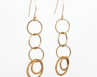 Gold Dangle Earrings - X4171