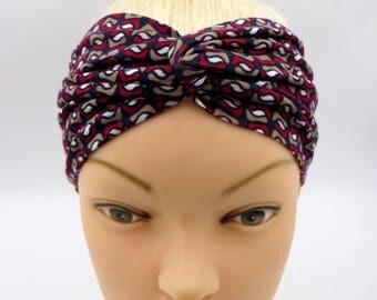 Retro Headband Adult Turban Headband Vintage Spirit 70s Twisted Headband Turban Headband geometric pattern turban headband twist headband