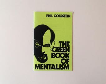 Rare - Phil Goldstein - The Green Book of Mentalism - 1977