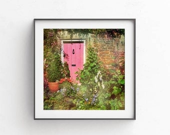 Stock photography, Commercial use, Pink door picture, Digtal download, Decoupage background, Printable rustic decor, Wall art, 12x12 decor