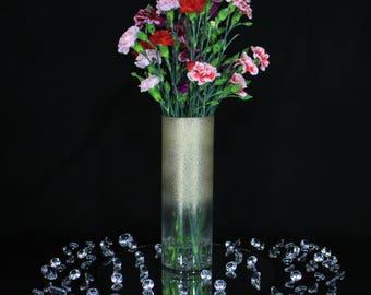 Wedding Vases, Wedding Vase Centerpiece, Wedding Centerpiece, Gold Vase, Gold Vases Weddings, Glitter Vases, Tall Vase, Flower Vase, Glitter