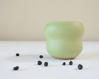 Spearmint Green Thrown Plant Pot