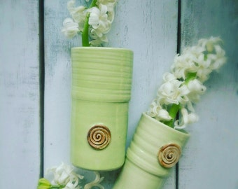 Blumenvase grün