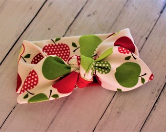 baby headband and trousers, apple headband, apple trousers, baby gift, baby shower, apple