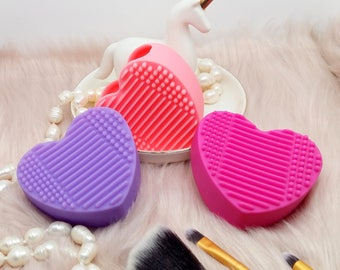 Makeup Brushes Soft Rubber Silicone Cleaning Pad - Pick Your Own! Make Up Brushes Scrubber Board - Heart Make Up Brush Cleaner