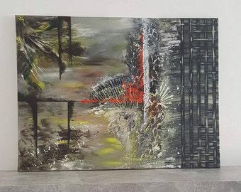 Monsoon season, abstract painting