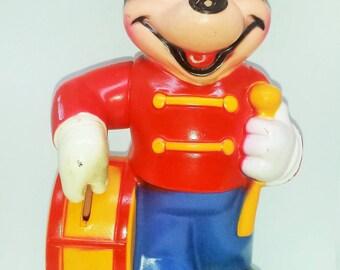 Vintage Mickey Mouse Band Leader Coin Bank - Vintage Disney