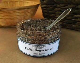 Coffee Sugar Scrub, Shower/Bath Softening Scrub