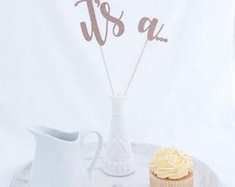 Gender Reveal Cake Topper, It's A Cake Topper. Gender Reveal Party, Gender Reveal Decorations, Boy or Girl Cake Topper, Baby Shower Cake