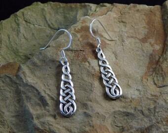 Celtic Irish Cascading Weave Earrings Irish Earrings Celtic Earrings Irish jewelry