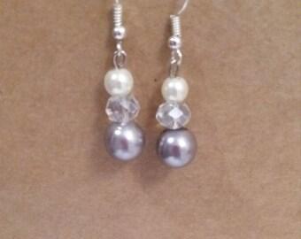 Grey pearl effect n crystal
