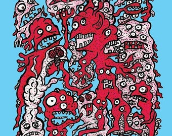 Creeps Print! Weirdo Monsters!