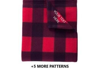 CUSTOM TEXT Fleece Blanket   Custom Fleece Blanket, Personalized Blanket, Cozy Blanket, Personalized Gift, Personalized Throw