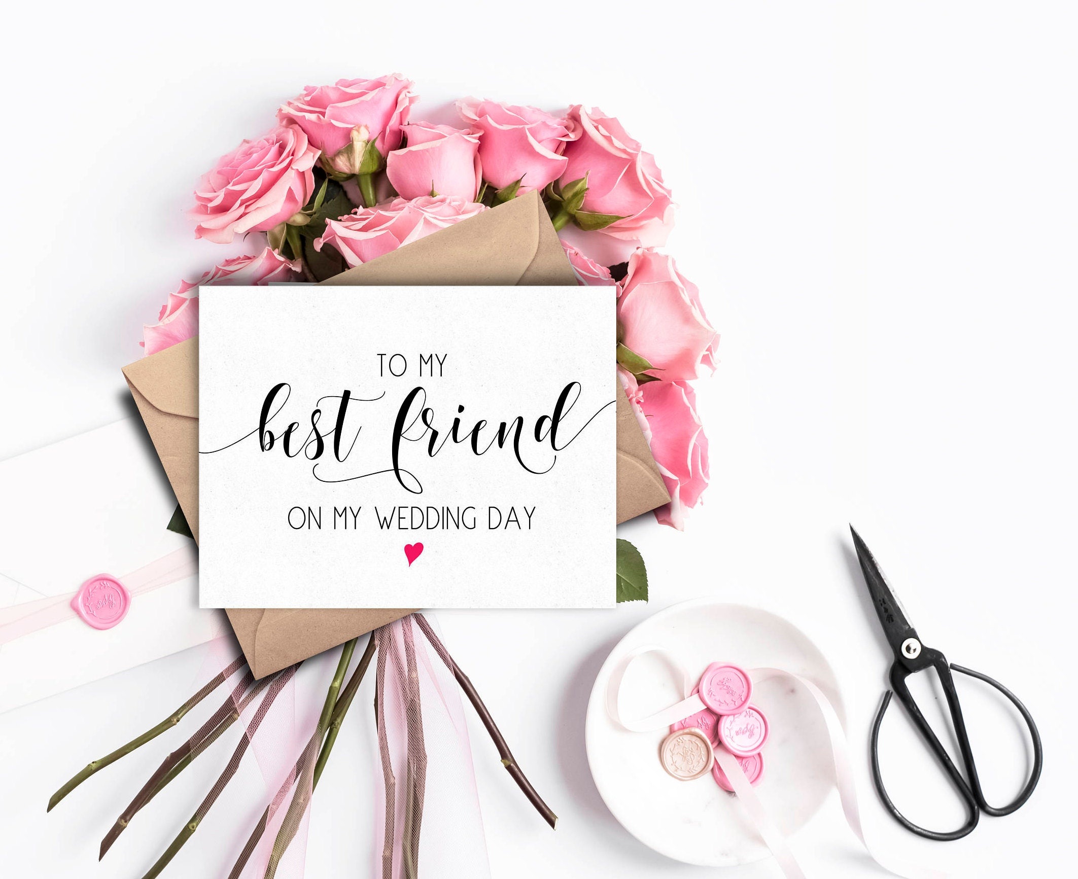 Best Friend Wedding Card For Day Of