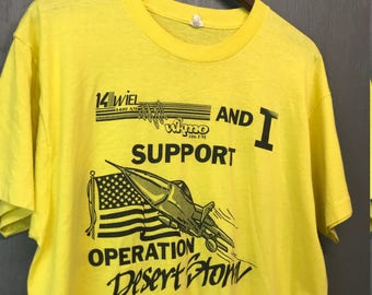 Xl thin vintage 1990 Operation Desert Storm screen stars t shirt