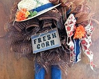 Whimsy Fall Scarecrow wreath
