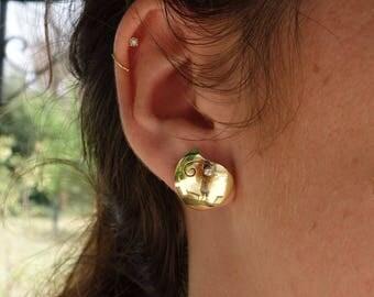 Earrings gold 18 K, Stud Earrings diamond earrings unique earrings, earrings jewelry