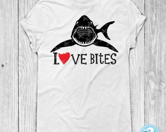 Love Bites SVG PNG DXF Eps Cutting Files, Valentine Svg, Boy Valentine Svg, Valentine's Day Svg, Shark Svg, kids valentine svg, Love svg