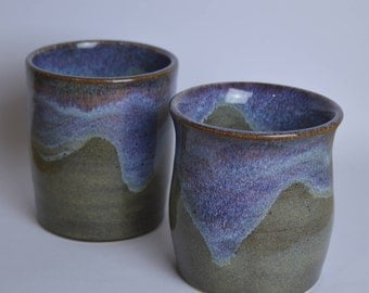Stoneware cups, set of 2, ceramic mugs