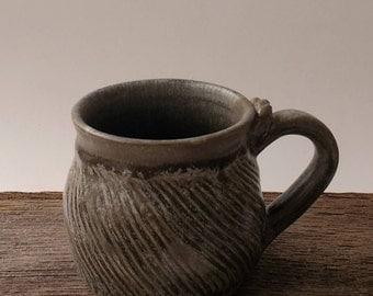 Rustic Coffee Mug | Coffee Cup, Rustic Pottery Mug, Stoneware Mug, Wheel Thrown Mug, Tea Mug, Unique Gift, Ceramic Mug