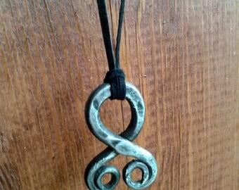 Troll Cross Hand Forged Trollkors Pendant
