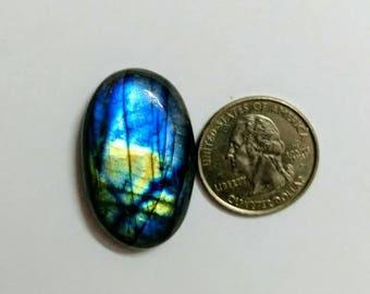 36.15 x 22.55 mm,Oval Shape,Labradorite Cobochon/Blue Flash/wire wrap stone/Super Shiny/Pendant Cabochon/Semi Precious Gemstone/labradorite
