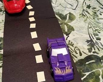 Vintage Transformers Toy/ 1990 Hasbro Micromasters Generation 1 Decepticon/ Ground Hog/ Purple Car
