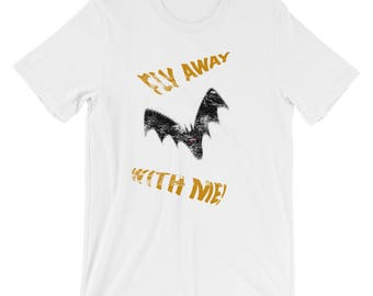 Fly Away With Me distressed cotton Short-Sleeve Unisex TShirt