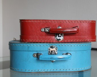 Two vintage children's suitcases