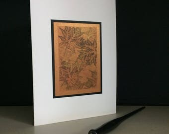 Samhain card: maple tapestry, individually handmade, happy Samhain, Halloween, pagan, Celtic, note card, fine card