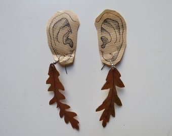 Laminated Leaf Earrings