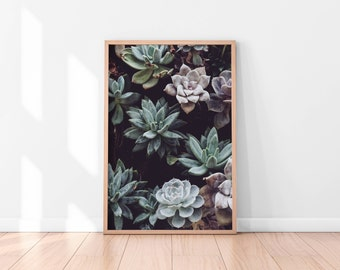 Green Floral Wall Art, Green Floral Printable, Flowers Poster, Botanical Art Print, Printable Wall Art, Floral Art Print, Best Selling Items